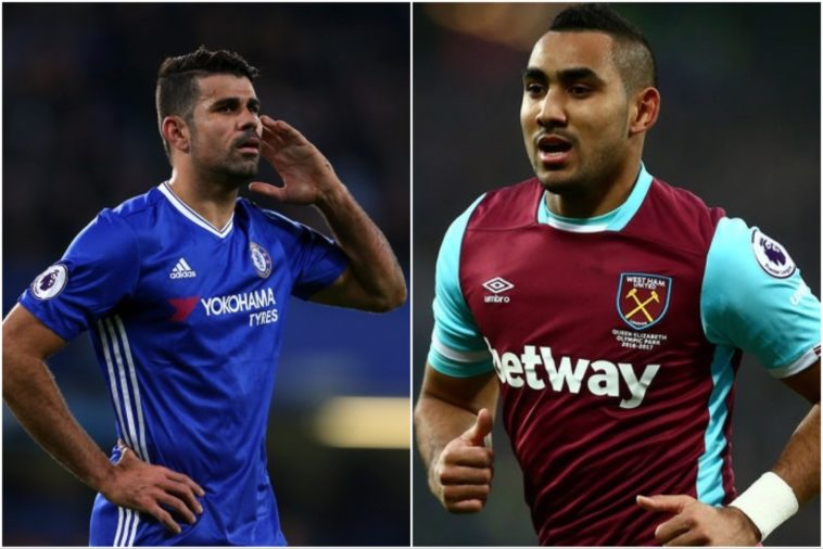 Diego Costa and Dimitri Payet