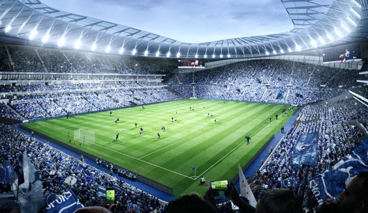 An artists impression of Tottenhams new stadium