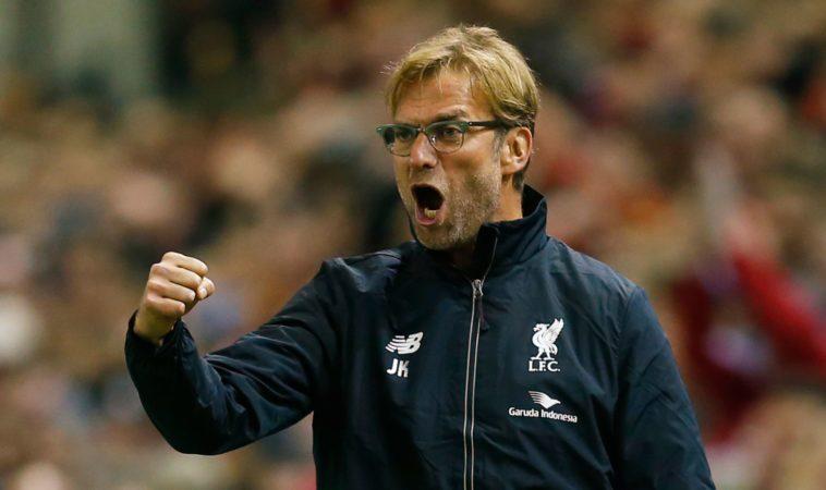 Jurgen Klopp celebrates for Liverpool