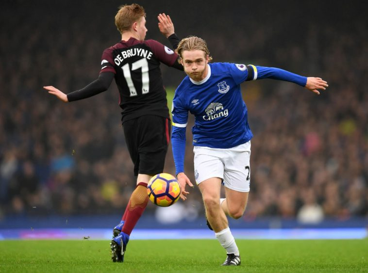 Tom Davies for Everton against Manchester City