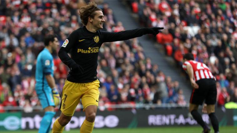 Antoine Griezmann scores for Atletico Madrid