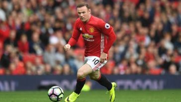 Wayne Rooney in Premier League action for Manchester United
