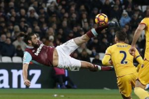 Andy Carroll scores a stunner for West Ham