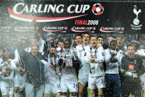 Spurs win the Carling Cup final at Wembley in 2008