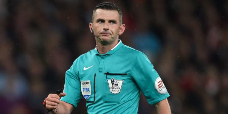 Michael Oliver. Premier League referee