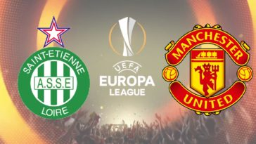 Saint Etienne v Manchester United in the Europa League
