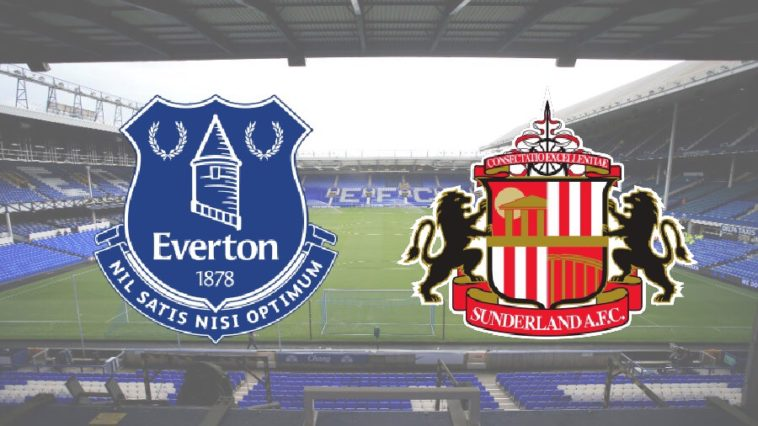 Premier League clash between Everton and Sunderland at Goodison Park