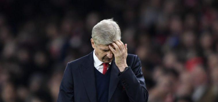 Arsene Wenger looking glum at Arsenal