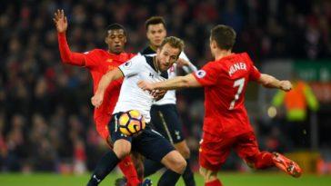 Harry Kane battles against Liverpool as Tottenham slump to a defeat