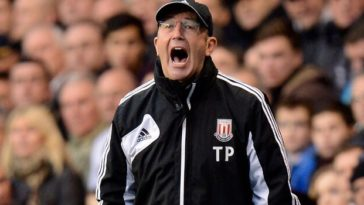 Tony Pulis during his time at Stoke City