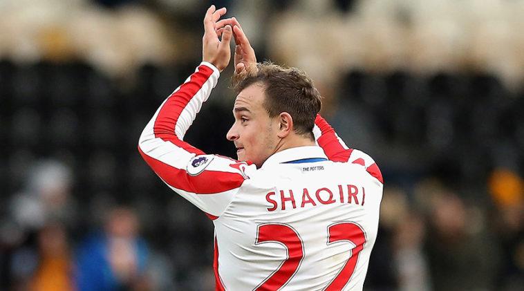Stoke City winger Xherdan Shaqiri