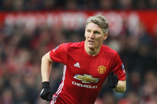 Bastian Schweinsteiger in action for Manchester United