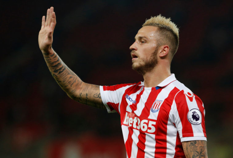 Stoke City winger Marko Arnautovic