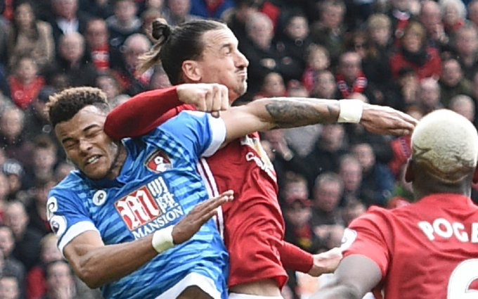 Zlatan Ibrahimovic elbow on Tyrone Mings