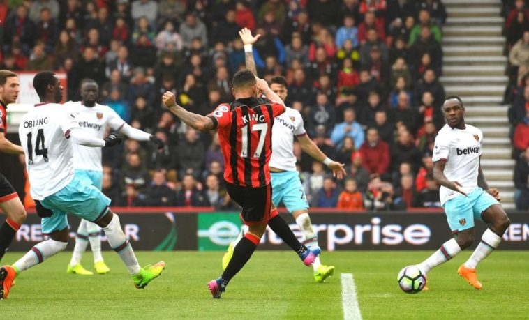 Josh King bags a hattrick fro Bournemouth against West Ham United