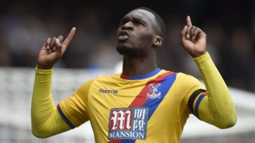 Christian Benteke scores for Crystal Palace against Chelsea