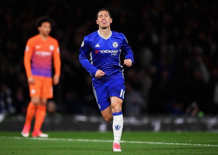 Eden Hazard scores a brace for Chelsea against Man City