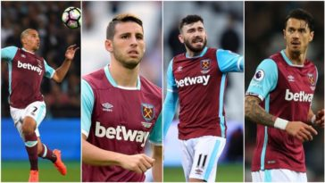 Robert Snodgrass, Jonathan Calleri, Sofiane Feghouli and Jose Fonte