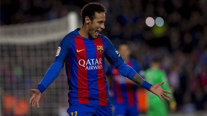 Barcelona striker, Neymar