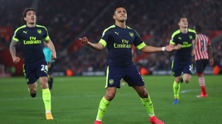 Alexis Sanchez scores for Arsenal against Southampton