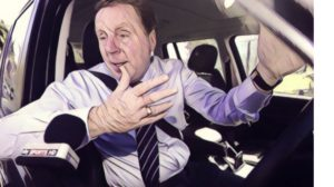 Harry Redknapp car window