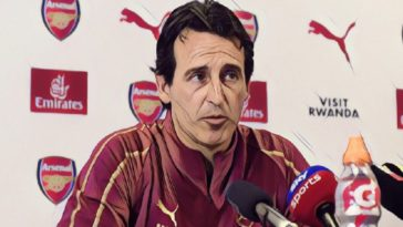 Arsenal manager Unai Emery