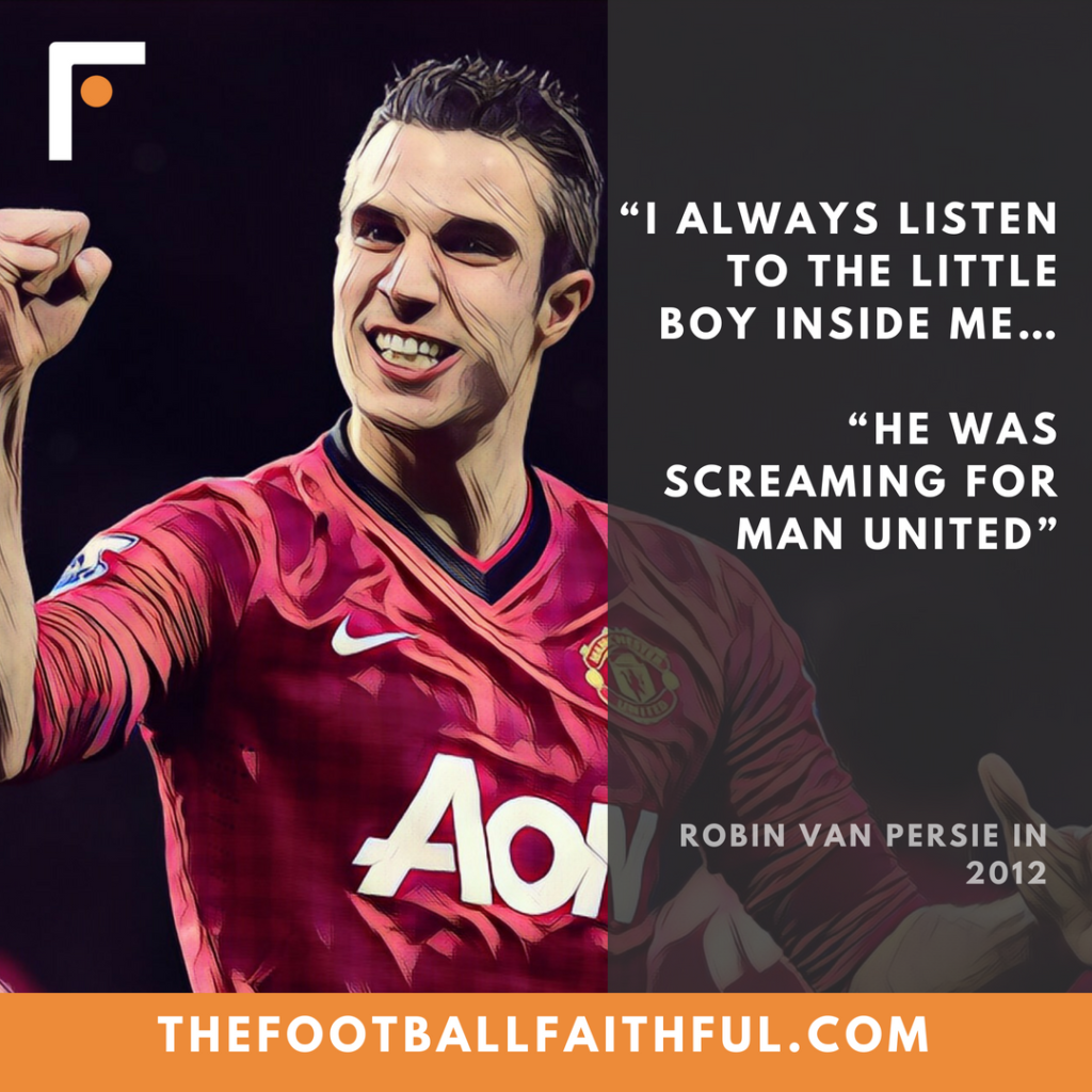 """I always listen to the little boy inside me… he was screaming for Man United"""