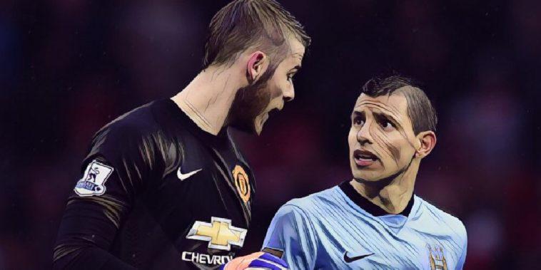 Aguero de Gea Manchester derby City United