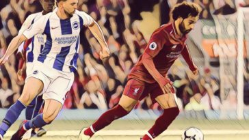Mo Salah against Brighton