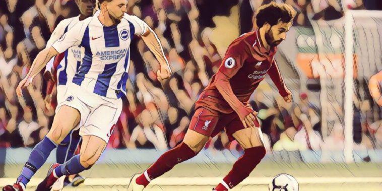 Mo Salah against Brighton