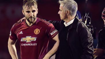 Jose Mourinho consoles Luke Shaw after Manchester United's 3-0 defeat to Spurs