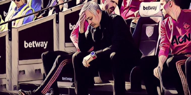 Jose Mourinho away at West Ham