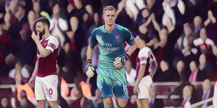 Arsenal goalkeeper Bernd Leno against Watford