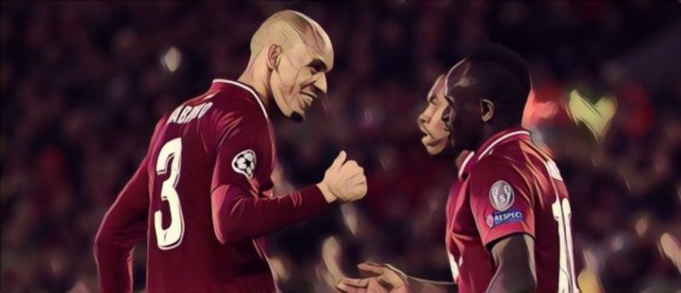 Liverpool's Fabinho and Daniel Sturridge
