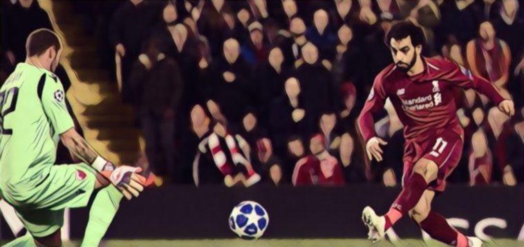 Mo Salah scores for Liverpool against Red Star Belgrade