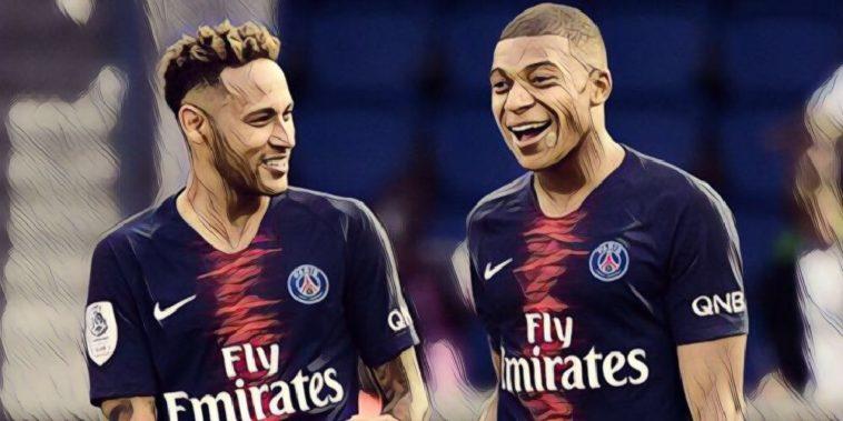 PSG's Kylian Mbappe and Neymar