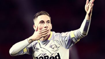 Derby County's on-loan forward Harry Wilson