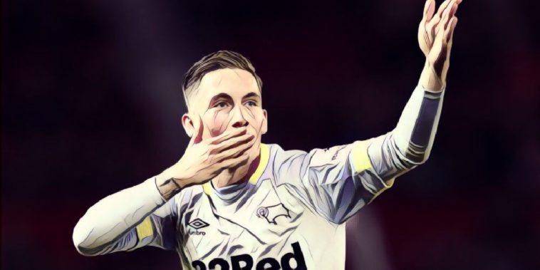 Derby County's on-loan forward Harry Wilson