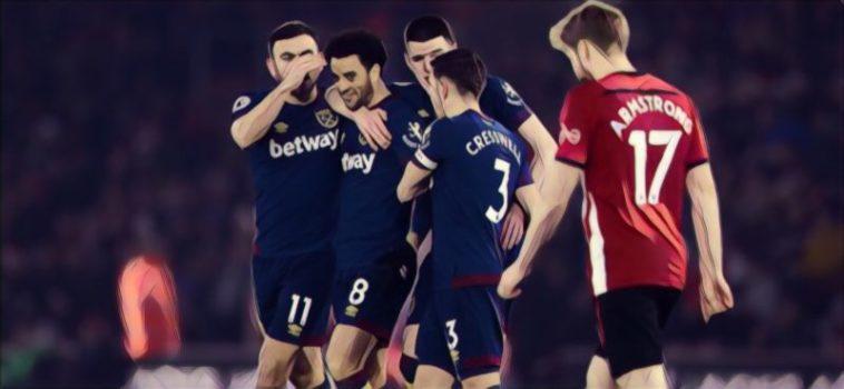 Southampton 1-2 West Ham
