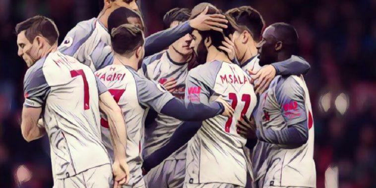 Liverpool celebrate v Bournemouth