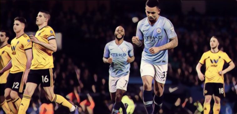 Gabriel Jesus Scores Man City v Wolves