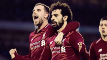 Salah celebrates his match winner against Brighton