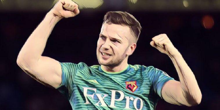 Tom Cleverley celebrates Watford goal