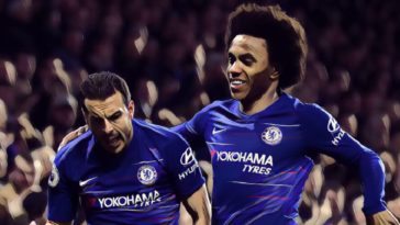 Willian and Pedro v Newcastle