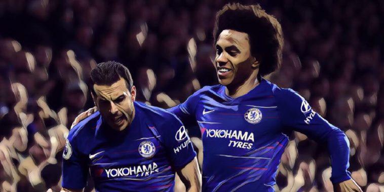 Willian and Pedro v Newcastle