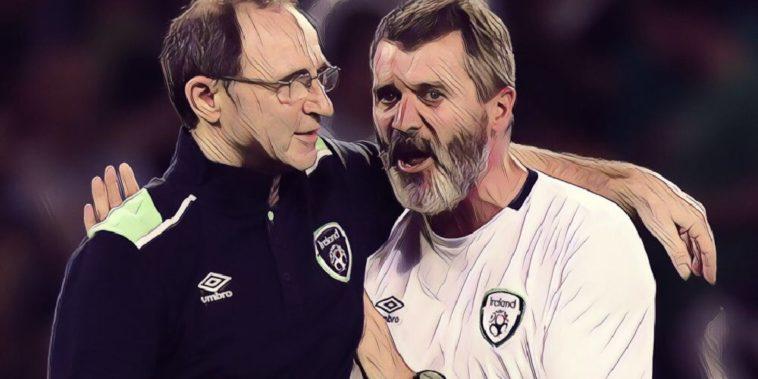 Martin O'Neill and Roy Keane