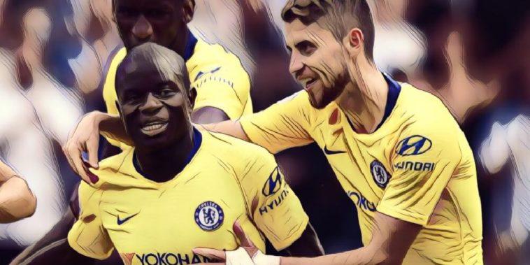 Chelsea's N'Golo Kante and Jorginho
