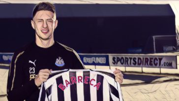 Newcastle complete the transfer of antonio Barreca