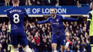 Higuain scores for Chelsea