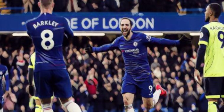 Higuain scores for Chelsea